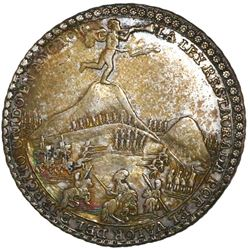 Cuzco (Ancachs), Peru, silver 4 reales-sized medal, 1839, Battle of Yungay, NGC AU 50, ex-Cotoca.