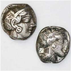 "Lot of two Attica, Athens, AR tetradrachm ""owls."""
