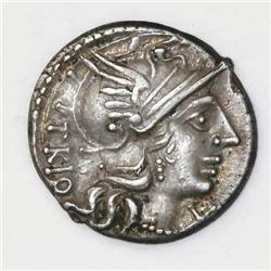 Roman Republic, AR denarius, Cn. Lucretius Trio, 136 BC, Rome mint.