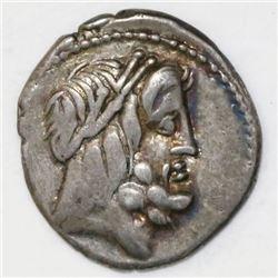 Roman Republic, AR denarius, M. Volteius Mf., 78 BC.