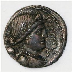 Roman Republic, AR denarius, L. Farsuleius Mensor, 75 BC.
