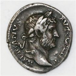 Roman Empire, AR denarius, Hadrian, 117-138 AD, struck 134-138.