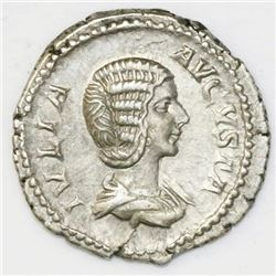 Roman Empire, AR denarius, Julia Domna, circa  207-211 AD.