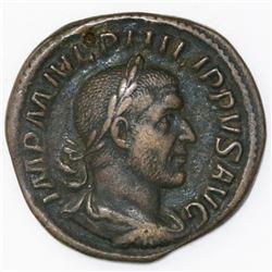 Roman Empire, AE sestertius, Philip I, 247-248 AD.