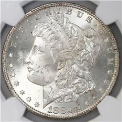 USA (San Francisco mint), $1 Morgan, 1882-S, NGC MS 65.