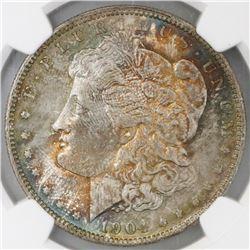 USA (New Orleans mint), $1 Morgan, 1904-O, NGC MS 64.