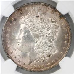 USA (New Orleans mint), $1 Morgan, 1904-O, NGC MS 64.
