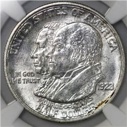 USA (San Francisco mint), half dollar, 1923-S, Monroe, NGC MS 63.