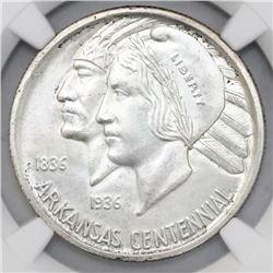 USA (Philadelphia mint), half dollar, 1935, Arkansas, NGC MS 64.