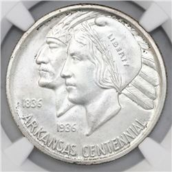 USA (Philadelphia mint), half dollar, 1935, Arkansas, NGC MS 64.