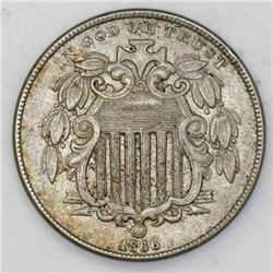 "USA (Philadelphia mint), nickel 5 cents ""shield nickel,"" 1866."