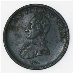 """USA, copper """"Washington"""" cent, no date (ca. 1790s), double head military bust."""