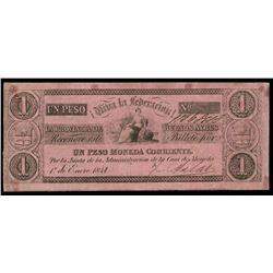 Buenos Aires, Argentina, Provincia de Buenos Aires, 1 peso, 1-1-1841, serial 11368113.