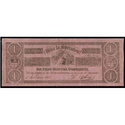 Buenos Aires, Argentina, Provincia de Buenos Aires, 1 peso, 1-1-1841, serial 1282960.