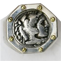 "Kingdom of Macedon, AR drachm, Alexander III (""the Great""), 336-323 BC, mounted portrait side out in"