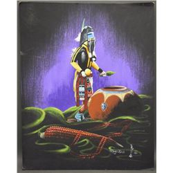 NAVAJO PAINTING (BLACK)
