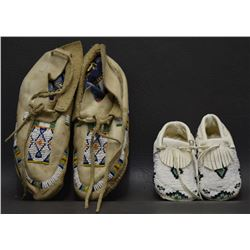 TWO PAIR PLAINS MOCCASINS