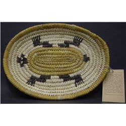 PAPAGO BASKETRY PLAQUE (LEWIS)