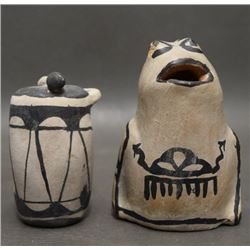 TWO COCHITI POTTERY ITEMS