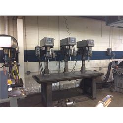 Clausing 3 Head Drill Press with Cat Stand