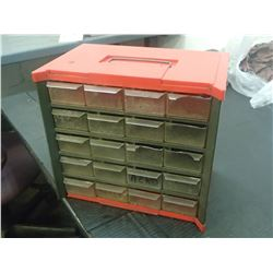 """Small 20 Drawer Organizer, Overall: 9.5"""" x 6"""" x 9"""""""