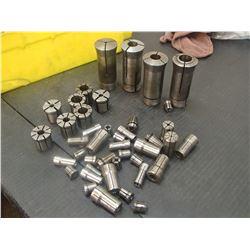 Lot of Misc Collets, 5C, DA100, DA200, F-Series Tap