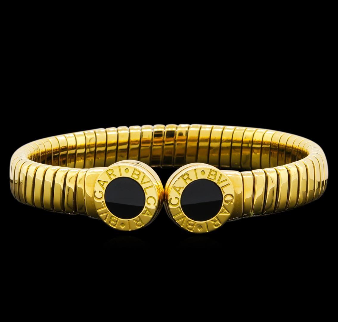 68de46a8e4cc0 Image 1 : Bvlgari 18KT Yellow Gold Cuff Bracelet ...