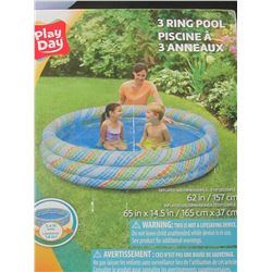 3 Ring Pool 62 inch x 14.5 inch deep / open box