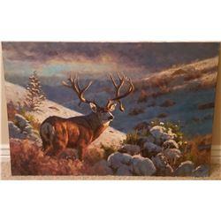 Brandon Bailey - Mule Deer Original 24x36 Oil Painting
