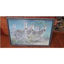 Framed Zebra Picture