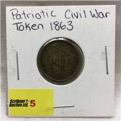 Patriotic Civil War Token 1863