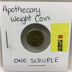 One Scruple - Apothecary Weight Coin