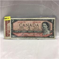 Canada $2 Bills (2) : 1954 Bouey/Rasminsky