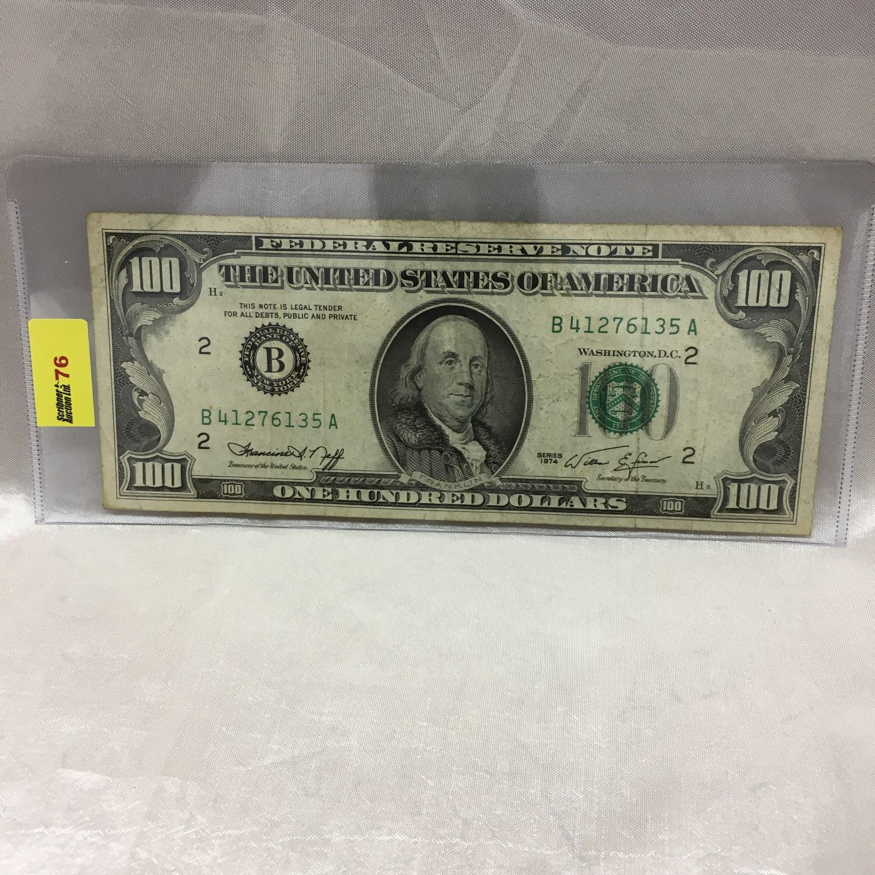 US $100 Bill 1974