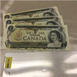 Canada $1 Bills (3 Sequential) BAC3307505/506/507
