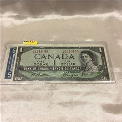 Canada $1 & $5 Bills 1954DF