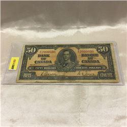 Canada $50 Bill 1937