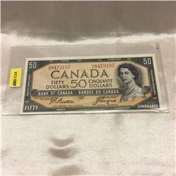 Canada $50 Bill 1954