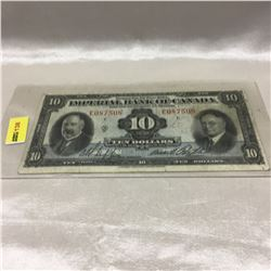 Imperial Bank of Canada $10 Bill 1934