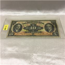 The Dominion Bank $10 Bill 1935
