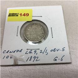 Canada Ten Cent 1892