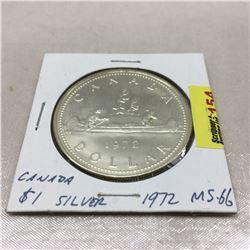Canada Silver Dollar 1972