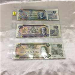 Canada Bills $5 (2) & $10 (2) & $20 (2) : Variety Signatures
