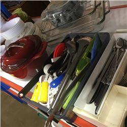 Kitchenware Start Kit: Corelle Dishware, Cutlery/Utensils, Dutch Oven, Clear Coffee Mugs, Bakeware,