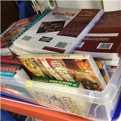 Tote Lot: Large Collection of Cook Books (Incl. Jean Paré)