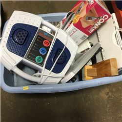 Laundry Basket Lot: Clothes Iron, Scale, Massager, Stool, etc !