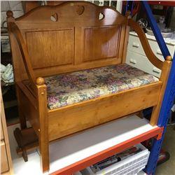 Wooden Entry Storage Bench