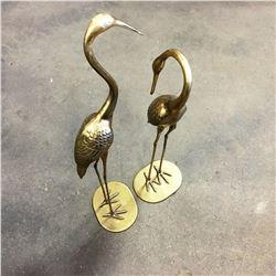 Large Home Décor Brass Birds (2)