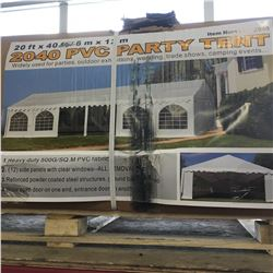 20 ft x 40 ft Full Closed Party Tent, C/W: 800 sq.ft, doors, windows, 4 side walls included