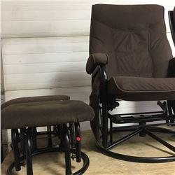 Glider Chair & 2 Glider Stools